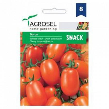 Rosii cherry Dorca (0.5 g), seminte de tomate portocalii pentru cultivare in ghiveci, Agrosel