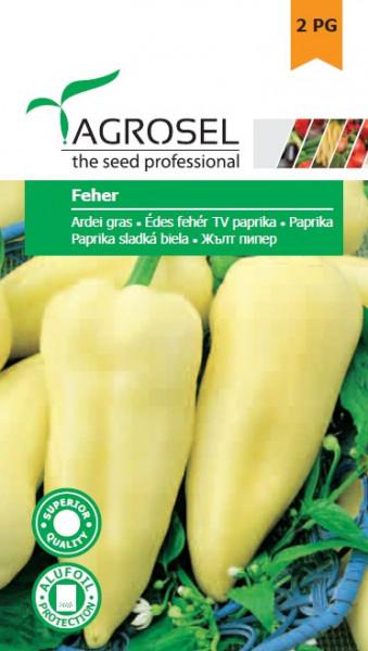 Seminte ardei gras Feher (1 g), semitimpuriu, Agrosel