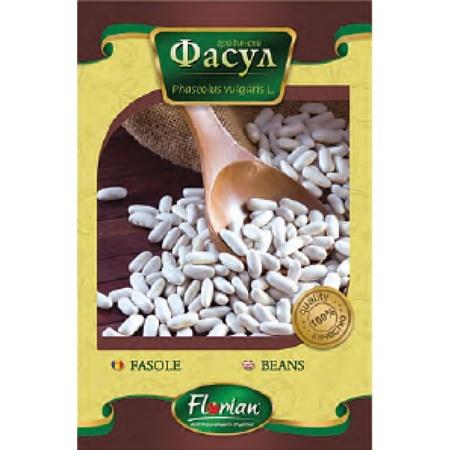 Fasole Alba pentru boabe Pactol (100 gr) Seminte de fasole pentru boabe Pactol de la Florian