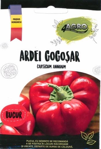 BUCUR Ardei GOGOSAR GIGANT - 1 gr - Seminte de Ardei GOGOSAR GIGANT Bucur, 4 Agro