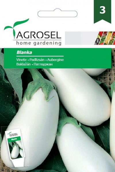 Vinete Albe Blanka (450 seminte), soi alb de vinete semitimpurii alungite, Agrosel
