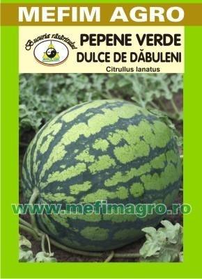 Dulce de Dabuleni - 2 g - Seminte de Pepene Verde Soi Romanesc de Pepeni Verzi Dulce de Dabuleni