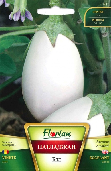 Vinete Albe - 1 gr - Seminte de Vinete Albe de la Florian Bulgaria Soi alb de vinete lungi