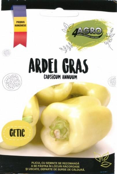 Getic - 50 gr - Seminte Ardei Gras Getic Soi Romanesc Timpuriu Tip Dolma Foarte Productiv Getic de la 4 Agro