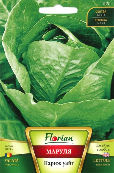 Paris White ( 3 grame), salata semitimpurie capatana mare, Florian