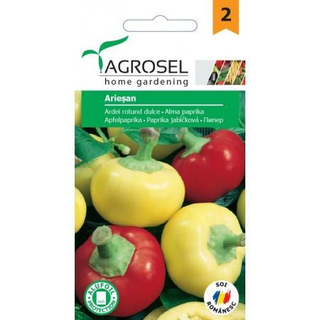 Seminte ardei dulce rotund Ariesan (1 gr), tip mar, Agrosel