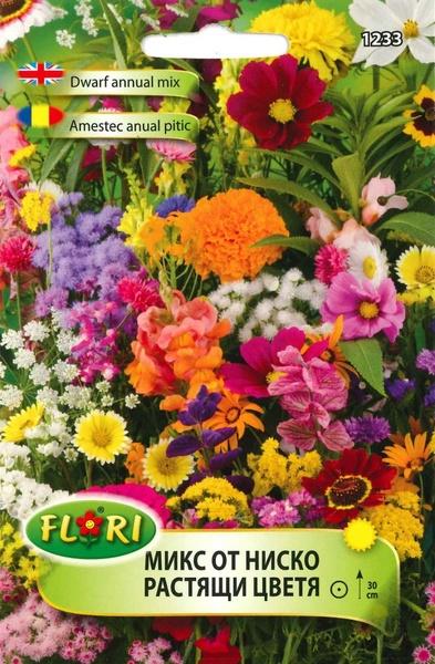 Flori Anuale Pitic Mix - Seminte Flori Pitic Mix de la Florian