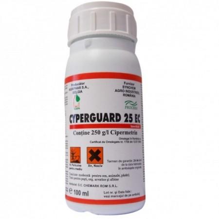 Insecticid Cyperguard 25 EC (100 ml), combatere spectru larg de insecte