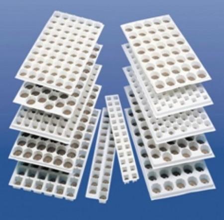 Cofraje plastic (alveole) 30x50cm, 60 celule, pentru Jiffy-7 44 mm, albe, Jiffy
