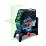 Bosch GCL 2-50 CG + RM 2 + BM 3 (solo) Nivela laser verde cu linii (20 m) cu Bluetooth + Suport professional + Clema pentru tavan + L-Boxx
