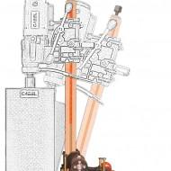 Cabel CAS 160, suport pentru CSN-6A-BA, reglaj unghi +/-60 grade