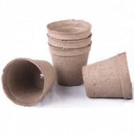 Ghivece biodegradabile pentru rasaduri, poturi rotunde 5.5x5 cm cu fanta, AP, WS, Jiffy
