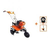 Motocultor cu motor termic New 750 Eco / 212 cm³ / 60-80 cm / 7 CP cu roti cauciuc, rarita, O-Mac