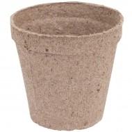 Ghivece biodegradabile pentru rasaduri, poturi rotunde 8x8 cm cu fanta, Jiffy