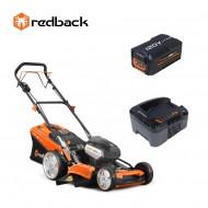 Redback Pachet EA156V+EA20+EC130 Masina de tuns gazon acumulatori 120V, 520mm, 60L, autopropulsie, acumulator 120V/2Ah, incarcator 120V/1A