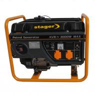 Stager GG 3400 generator open-frame 2.6kW, monofazat, benzina, pornire la sfoara