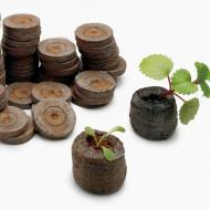 Jiffy 33 mm pastile turba (100 buc) pentru rasaduri de legume si flori, Jiffy