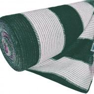 Plasa umbrire alb-verde HDPE UV 95%, latime 2 m, lungime 10 m