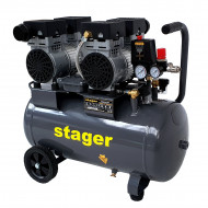 Stager HM0.75x2JW/50 compresor aer, 50L, 8bar, 330L/min, monofazat, angrenare directa, silentios
