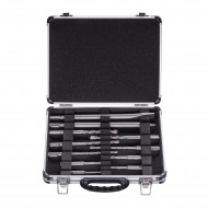 Bosch Set Mixt SDS Plus, 9 burghie, 1spitz, 1 dalta, cutie metal
