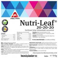 Fertilizant foliar hidrosolubil cu conținut ridicat de macro și microlemente,NUTRI LEAF 20-20-20 (1 kg), AECTRA