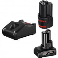Bosch GBA12V + GAL12V-40 Set 2 acumulatori Li-Ion 12V, 1x 2Ah, 1x 4Ah + Incarcator rapid 4Ah