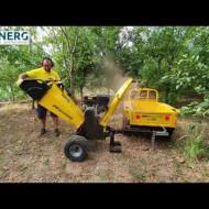 ProGARDEN TB100E tocator resturi vegetale, 12CP, benzina, 6mc/h, 65-100mm, pornire electrica