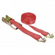 Chinga ancorare Kerbl cu clichet 10 m × 50 mm - rosu