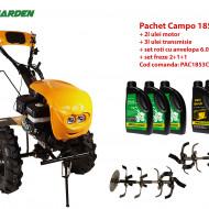 Pachet motocultor Campo 1853, benzina, EURO5, 18CP, 2+1 trepte, ulei motor si transmisie incluse