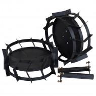 ProGARDEN set roti metalice 470x200mm, manicot cu flanse, hexagon 32mm