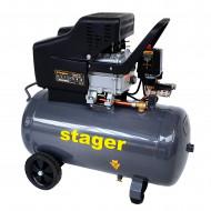 Stager HM2050B compresor aer, 50L, 8bar, 200L/min, monofazat, angrenare directa