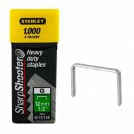 "Stanley 1-TRA708T Capse de inalta calitate 12 mm / 1/2"" 1000 buc. tip g 4/11/140"