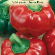 Ardei gogosar Topepo Rosso (1 kg), seminte de soi timpuriu rosu inchis stralucitor, Agrosem