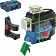 Bosch GLL 3-80 CG + BM 1 (solo) Nivela laser cu linii verzi (30 m) cu Bluetooth + Suport + L-Boxx