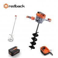 Redback Pachet E808T+E805C+E806C+EP40+EC20 Cap motor antrenare, paleta 120mm, burghiu 150mm, acumulator 40V/4Ah, incarcator 40V/2A