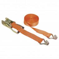 Chinga fixare Kerbl cu clichet 8 m × 50 mm - portocaliu