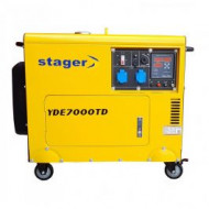 Generator curent diesel SuperSilent 418 cm3 / 4.2 kW / 14.5 l, Stager YDE 7000TD