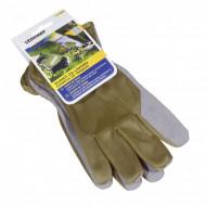 Manusi de lucru Stocker palma piele sintetica verde