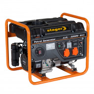 Stager GG 2800 generator open-frame 2kW, monofazat, benzina, pornire la sfoara