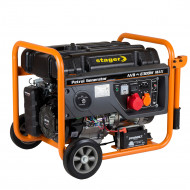 Stager GG 7300-3EW generator open-frame 5.8kW, trifazat, benzina, pornire electrica