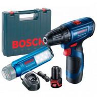 Bosch GSR 120 LI Masina de gaurit si insurubat cu 2 acumulatori, Li-Ion, 12 V, valiza plastic