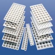 Cofraje plastic (alveole) 30x50cm, 104 celule, pentru Jiffy-7 33 mm, albe, Jiffy