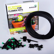 Kit irigare pentru 15 ghivece cu adaptor pentru conectarea la robinet, Agrodrip & Eurodrip Irigatii