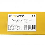 ProWELD E308L-16 electrod inox, 2.5x300mm, tub 2kg
