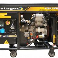 Stager YDE12E Generator open frame 8.5kW, monofazat, diesel, pornire la cheie