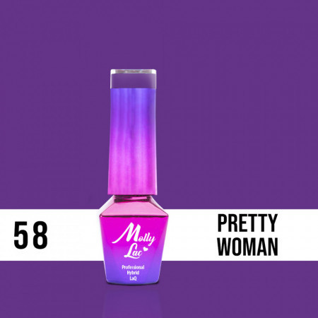 58 Pretty Woman Molly Lac 10 ml Oja Semipermanenta