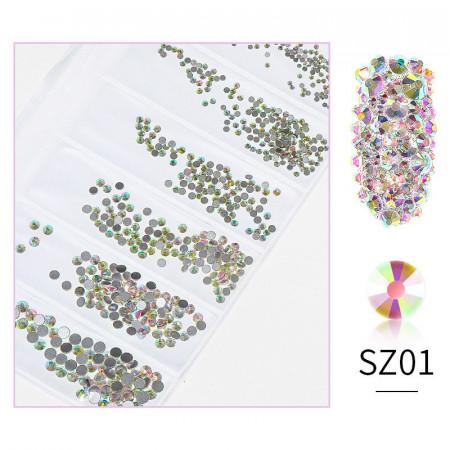 Cristale din sticla 1440 bucati mix marimi SZ01