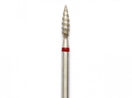 Bit cuticula Rosu Tornado Flacara 2.5 mm