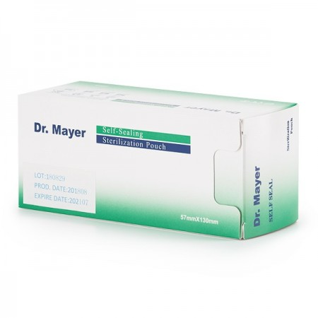 Pungi sterilizare autosigilante Dr. Mayer 57x130mm set 200 (pentru bituri)