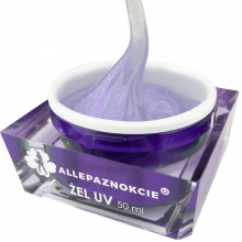 Jelly Moonlight Violet Gel UV 50 ml - Allepaznokcie (cu particule de sclipici)